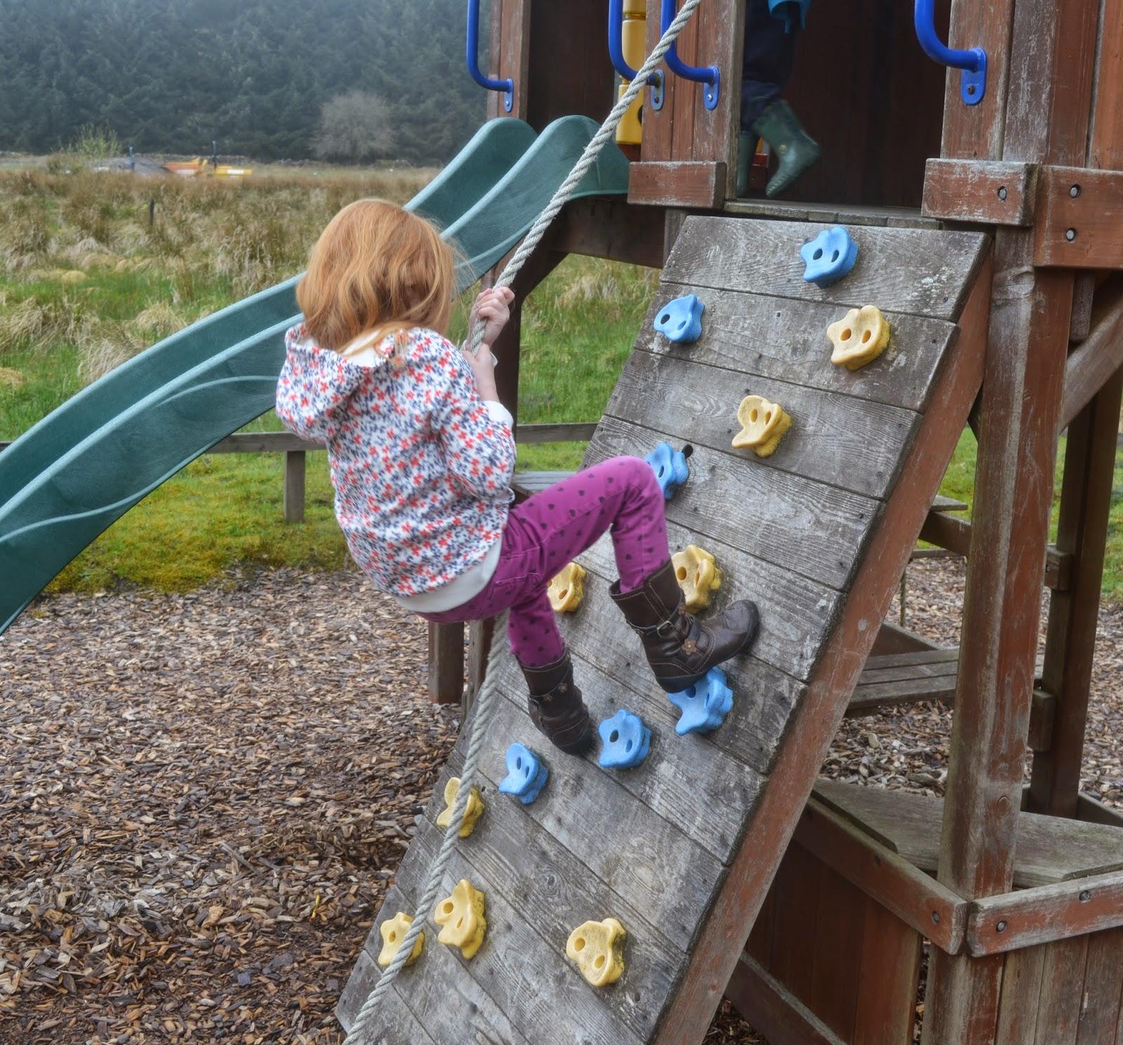 Children's play area at the Calvert Trust, Kielder