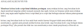 kolom kode/script