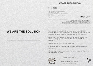 WE ARE THE SOLUTION: M MANAGEMENT x NO MORE PLASTIC