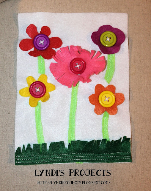 quiet book flower page for toddlers