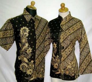 contoh baju batik sarimbit untuk kerja