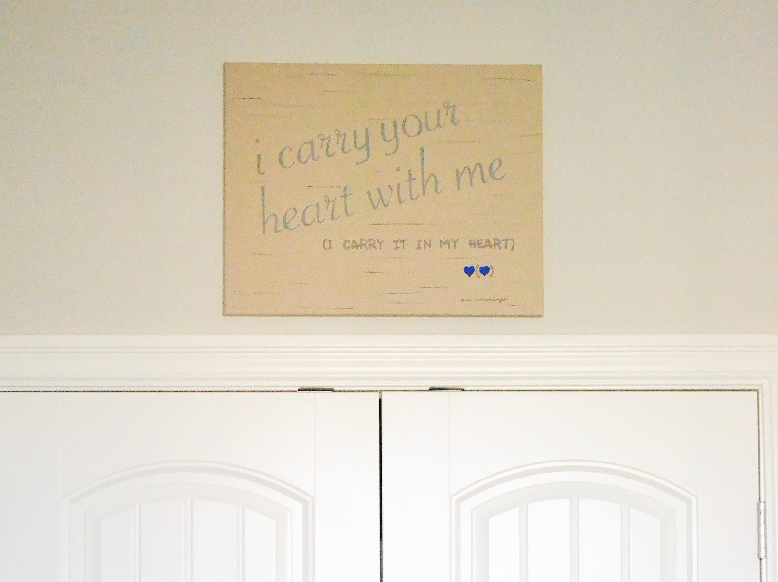 Old Fashioned I Carry Your Heart Wall Art Illustration - Wall Art ...