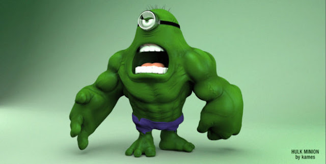 Cute Funny Angry Minion Hulk HD Wallpapers