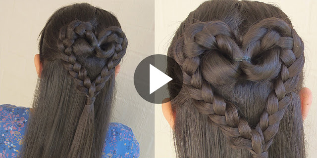 How To Create Stranded Heart Hairstyle, See Tutorial