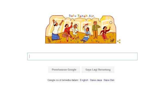 Tampilan Halaman Pertama Google mengingatkan Hari Sumpah Pemuda