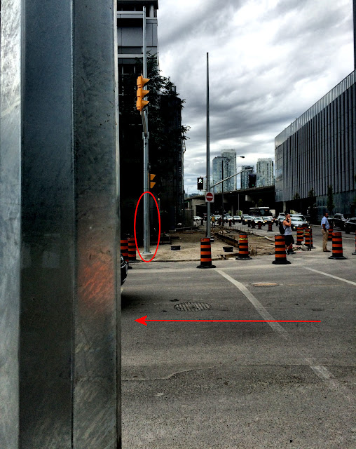 New streetlights and poles install lacks required Accessible Pedestrian Signals.