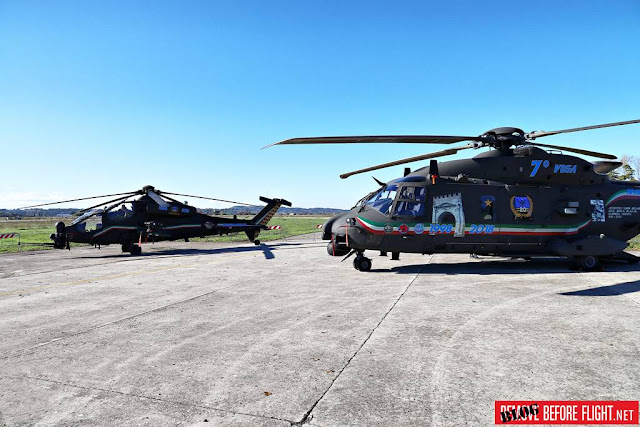 ITALIAN ARMY 7th REGIMENT VEGA UNVEILS TWO HELICOPTERS WITH SPECIAL LIVERY