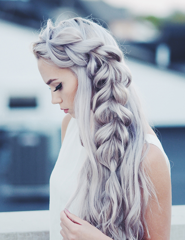 Ten easy and gorgeous hair braid tutorials.  How to create a pull through side braid.