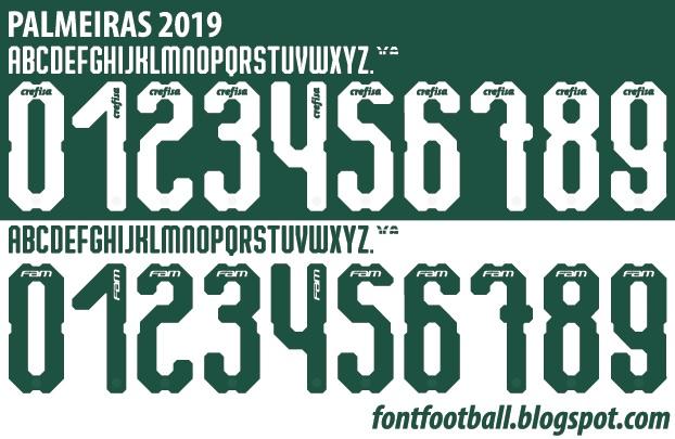 font football font vector palmeiras 2019 kit font vector palmeiras 2019 kit
