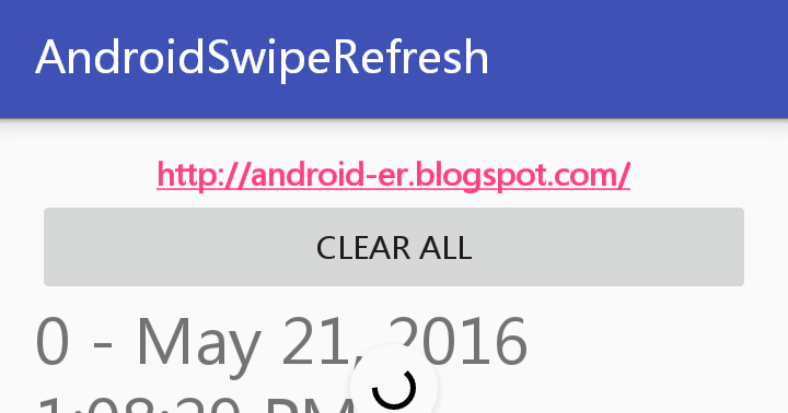 Android-er: SwipeRefreshLayout, work with RecyclerView
