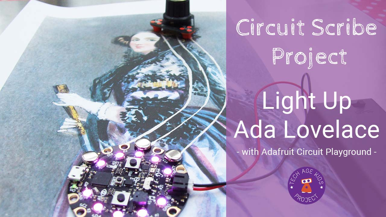 Light Up Ada Lovelace With Circuit Scribe And Playground 3