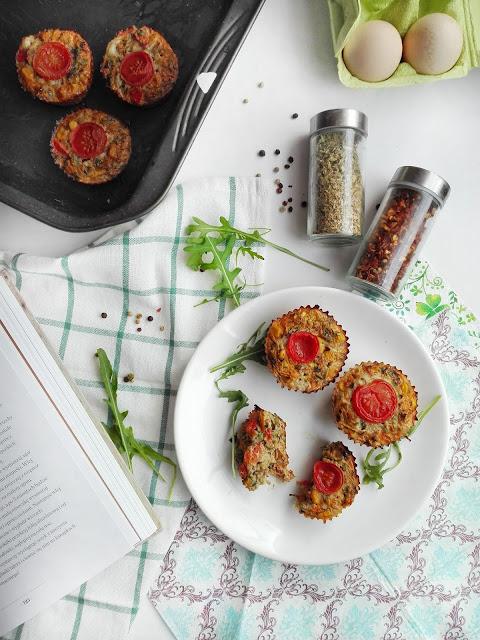 Mini quiche, babeczki jajeczne z warzywami