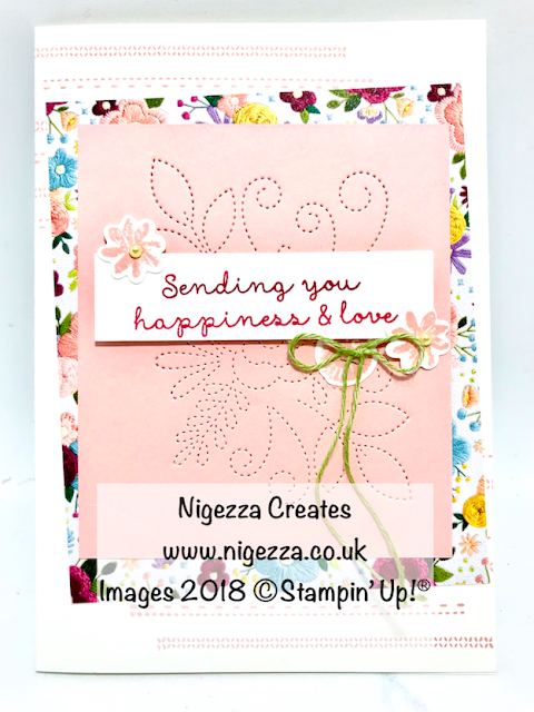 On Stage Make & Take: Needle Point Card Nigezza Creates