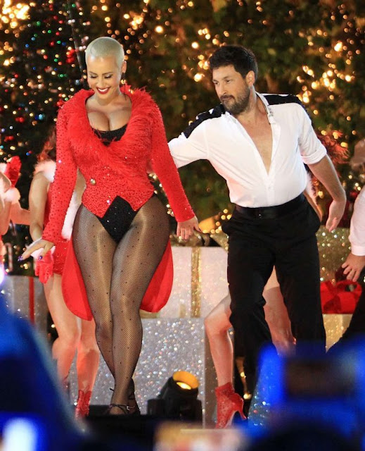 Amber Rose Shows Off Her Moves on 'DWTS' in Hollywood