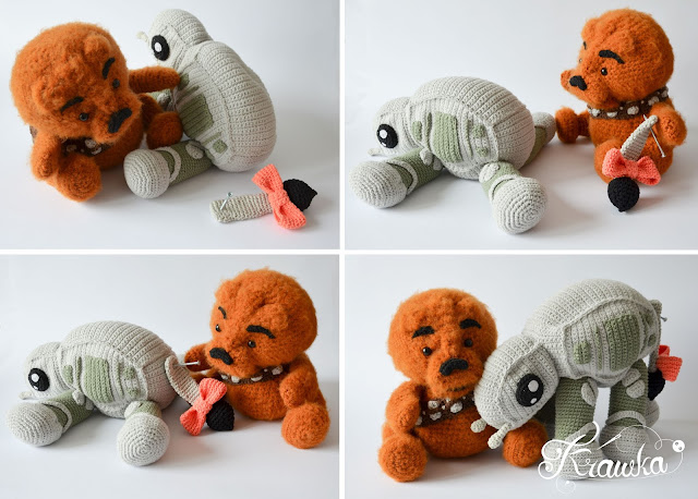 Krawka: Winnie the Chew crochet pattern - Winnie the Pooh and Chewbacca mashed up in one character!