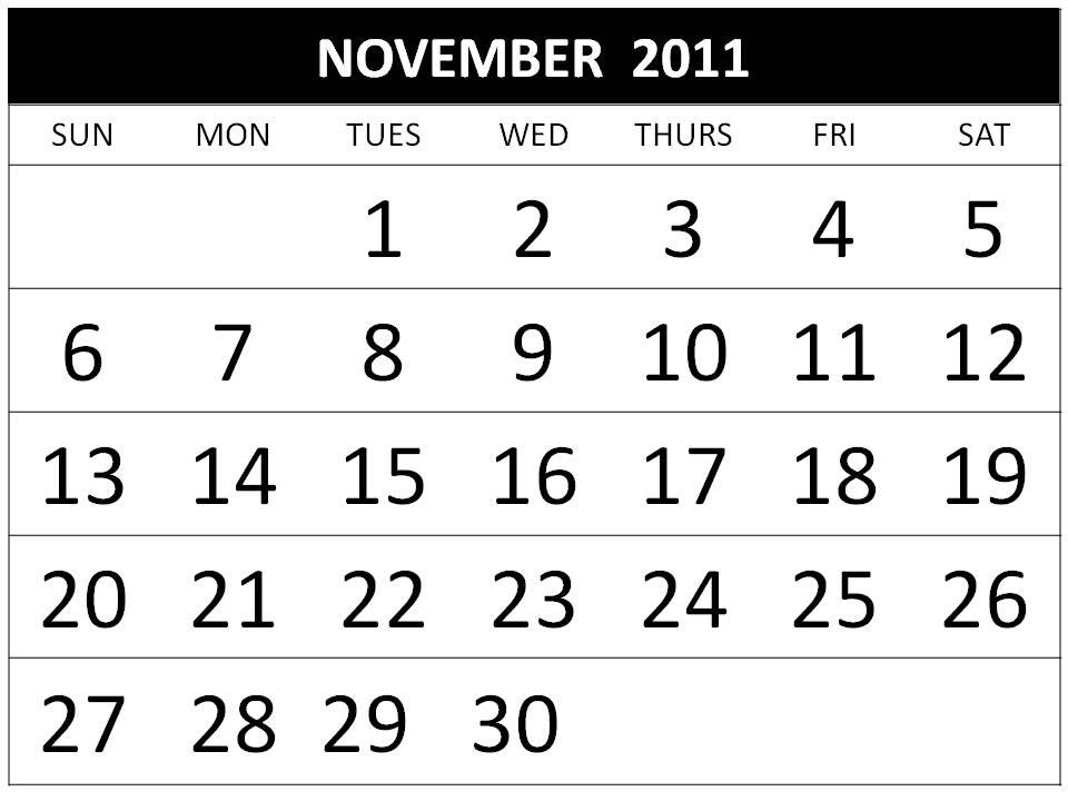 harcacocbigb 2011 Calendar November