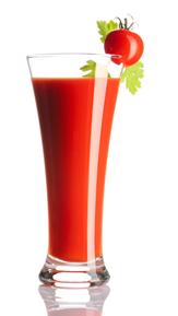 O suco detox de tomate