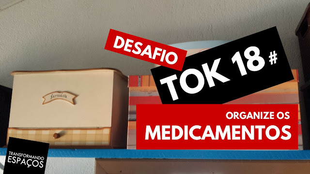 Organize os medicamentos! - Tok 18 | Desafio 52 toks de organização e decor