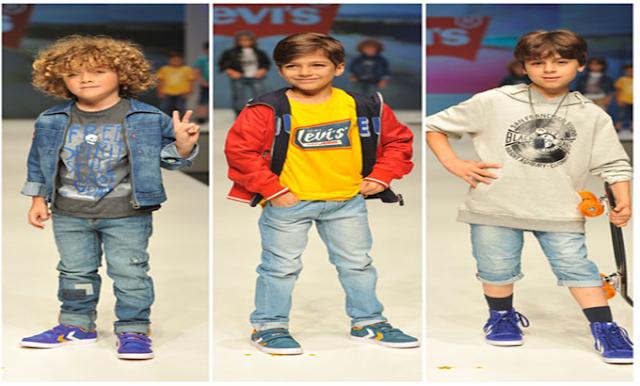 Tendências da moda infantil domingo no parque