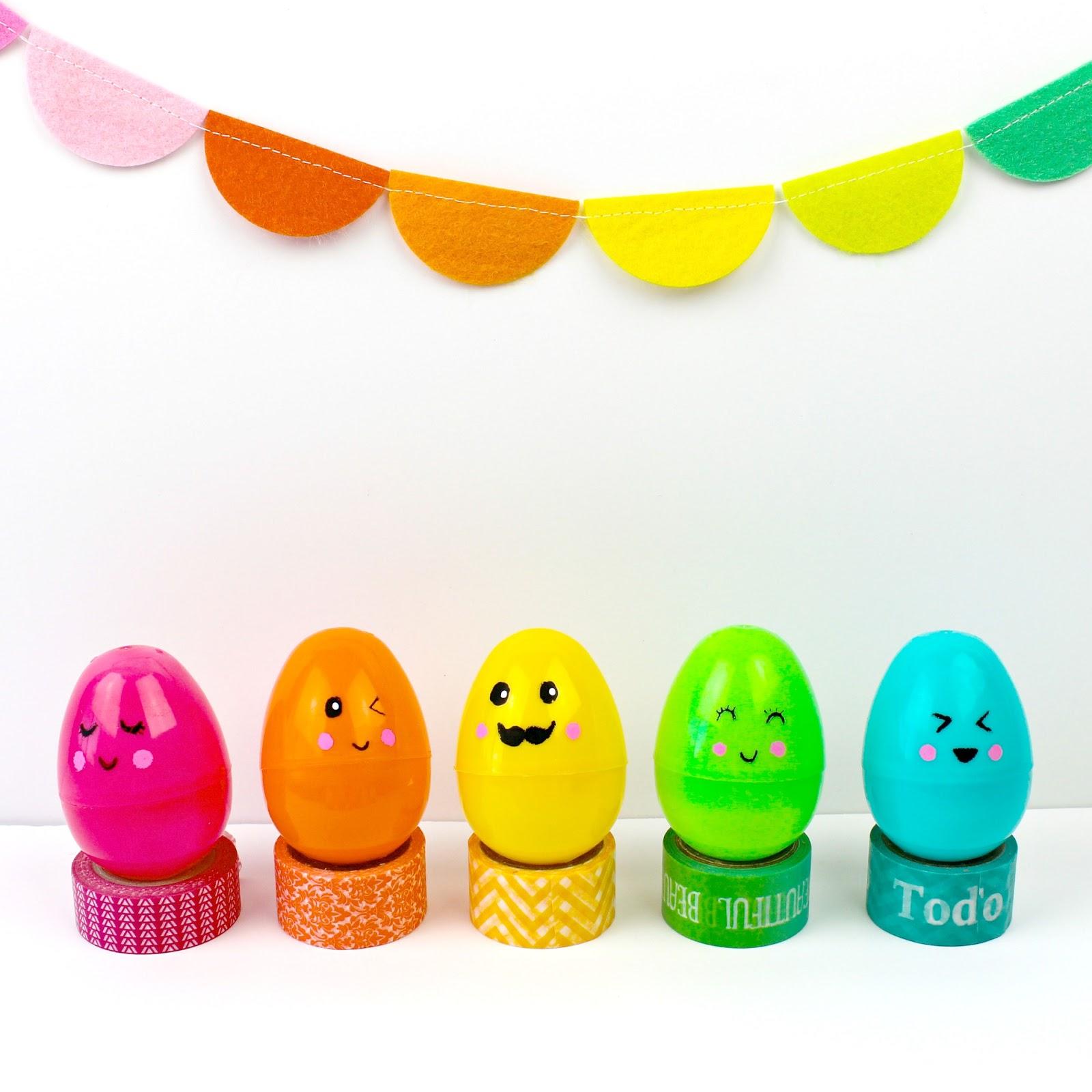 Diy Kawaii And Emoji Inspired Easter Eggs Color Made Happy