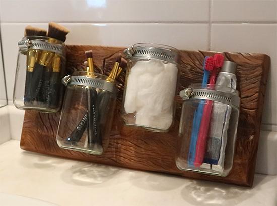 organizador, organizador banheiro, porta trecos, faça você mesmo, diy, a casa eh sua, organizer, banheiro, decor, decoracao