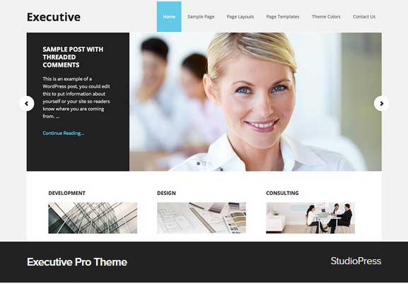 Executive pro Theme Award Winning Pro Themes for Wordpress Blog : Award Winning Blog