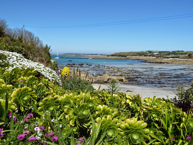 View of Porthmellon Beach - St Mary's