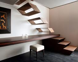 Minimalist Interior Design Staircase For Small Sized House. Ladder  Minimalist Design Is Perfect For A Small House, Because It Is Not Possible  To Use A Large ...