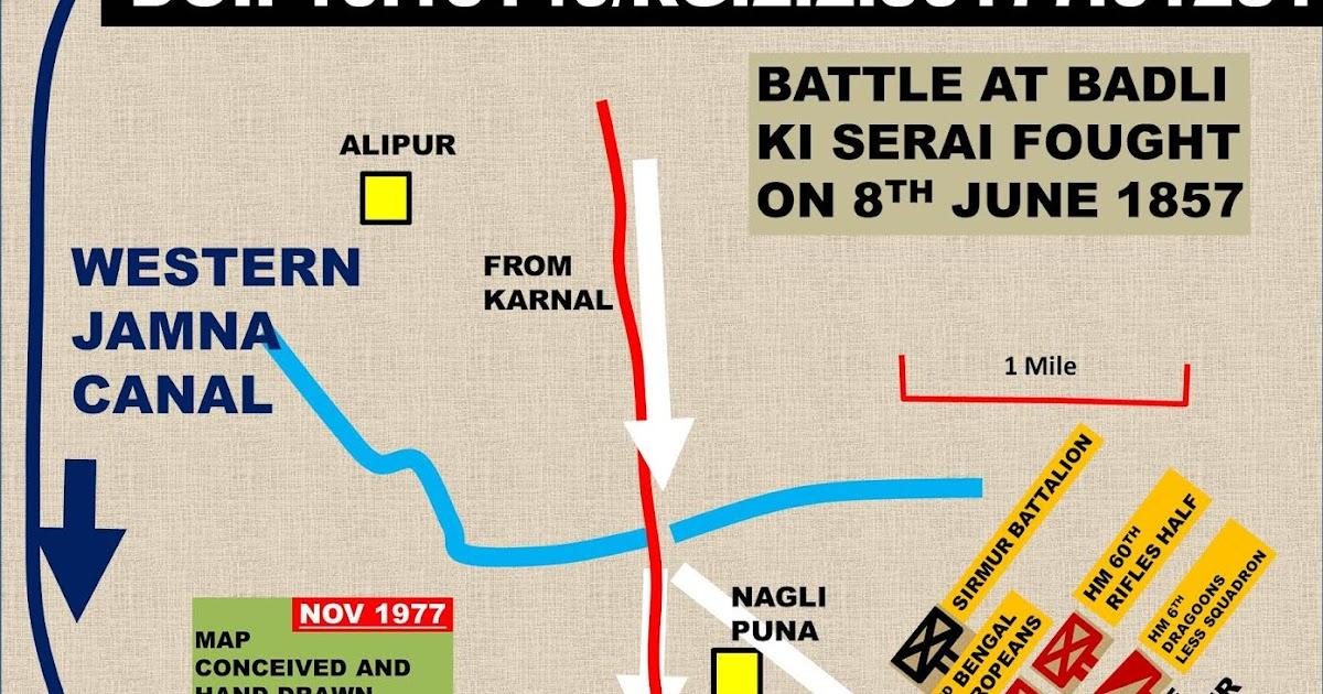 Review: BATTLE AT BADLI KI SERAI FOUGHT ON 8TH JUNE 1857