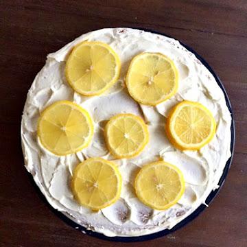 Homemade Lemon Cake With Lemon Frosting