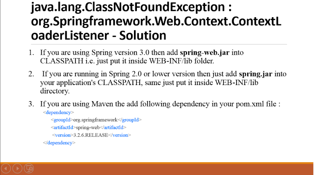 java.lang.ClassNotFoundException:org.Springframework.Web.Context.ContextLoaderListener [Solution]
