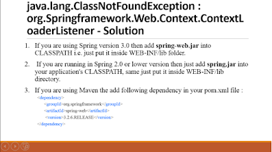 java.lang.ClassNotFoundException:org.Springframework.Web.Context.ContextLoaderListener [Solution]