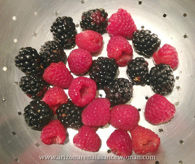 Raspberries and Blackberries for Balsamic Berry Salsa