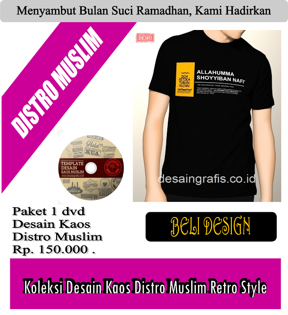 Download template desain kaos distro muslim