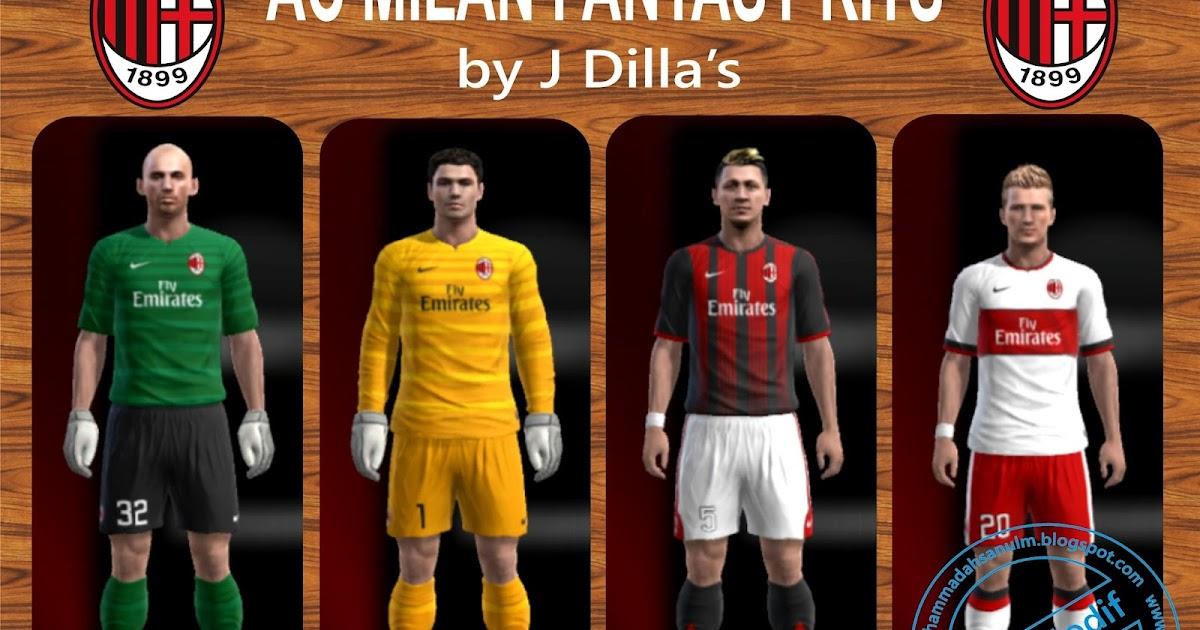 Pes-modif: AC Milan Fantasy Kits By J Dilla's
