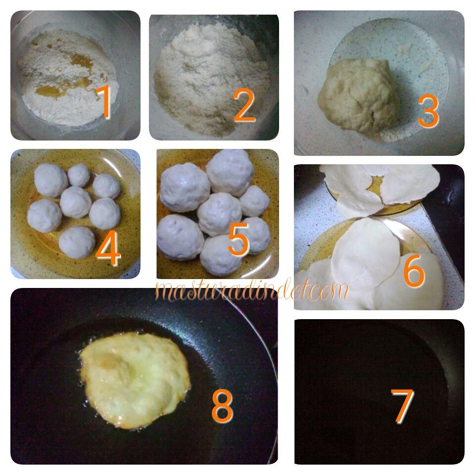 resepi roti puri mudah, cara buat roti puri, idea sarapan pagi dan minum petang