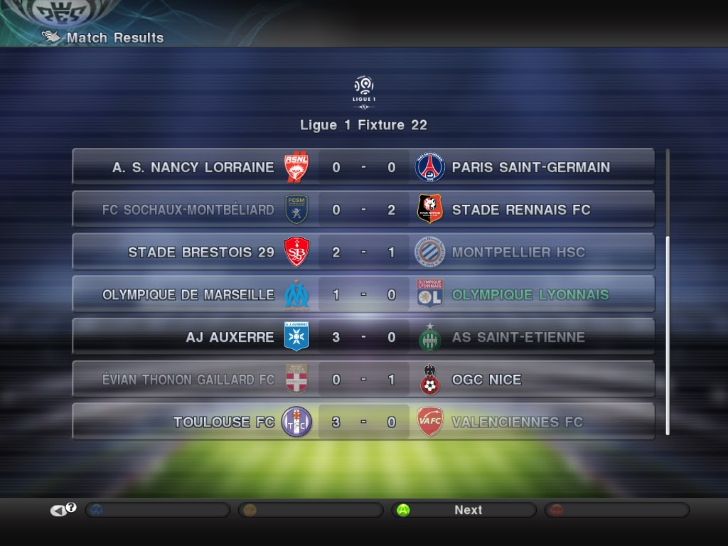 French Ligue One Fixtures
