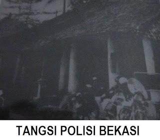 foto Jadul Kondisi gedung Tangsi Polisi Bekasi  yang asli sebelum di bongkar