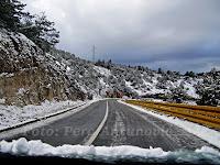 snijeg Vidova gora otok Brač slike
