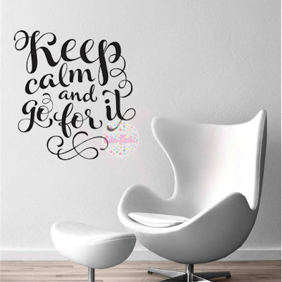 vinilo decorativo pared frase tipografico keep calm go for it