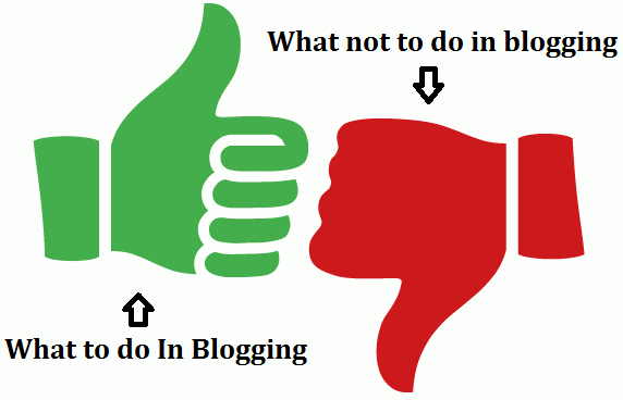 to do and dont in blogging