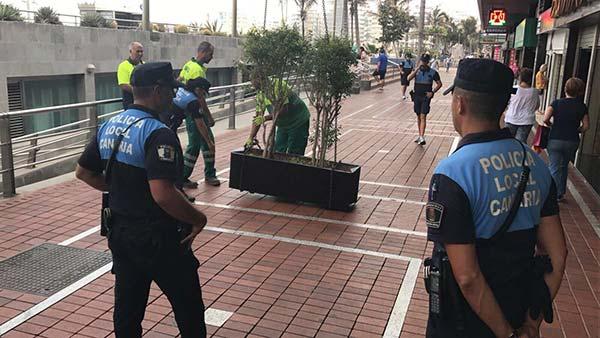 Maceteros para evitar atentados, Las palmas de Gran Canaria