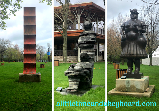 Admiring Ravinia's Sculpture Walk