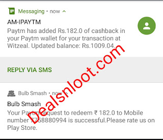 Bulb Smash Paytm Proof