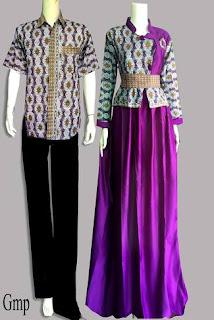 Batik Couple Gamis Bolero Murah