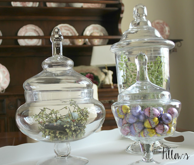 Spring filled apothecary jars.