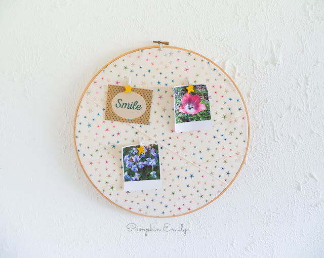 DIY Embroidery Hoop Memo Board
