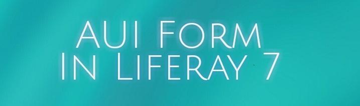 AUI Form In Liferay