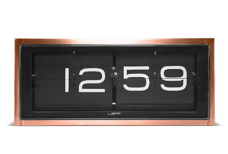 orologio da tavolo o parete con cassa bronzo by LEFF Amestrdam Yellowa.it