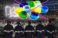 tappi di bottiglie sequestrati dalla polizia ai concerti e alla partite